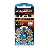 Ansmann 5013253- Pila para audífono 675 zinc aire, 1,4V PR44 AZA675, color azul