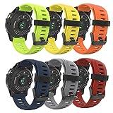 MoKo Bande Garmin Fenix 3 / Fenix 5X Watch, Bande de Montre de Remplacement en Silicone Souple pour Garmin Fenix 3 / Fenix 3 HR/Fenix 5X Montre Intelligente, (Lot de 6), Coloré 3