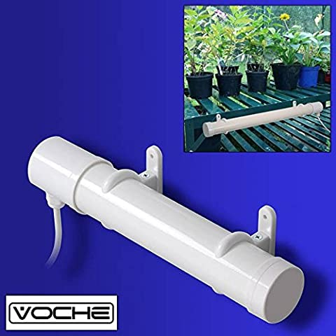 Voche® 1ft Portable 45W Electric Tubular Greenhouse ConservatoryHeater + Cable, Plug, Clips &