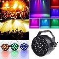 Jannyshop LED Stage Light RGB 3In1 LEDDisco Party DJ Light DMX Control Bar Wedding Club Decoration (Plug UK)