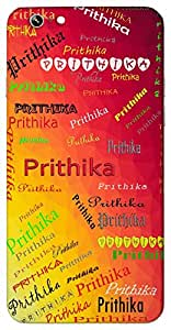 Prithika (Flower) Name & Sign Printed All over customize & Personalized!! Protective back cover for your Smart Phone : Xiaomi Redmi Note 3