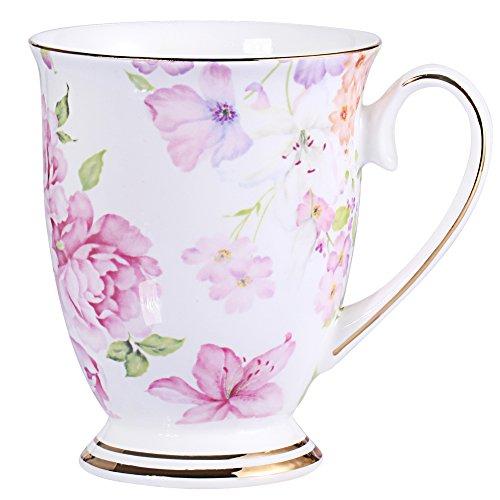 Royal Fine Bone China Kaffee Tasse sortiert Farben Tee Cup 11Oz fein rot -