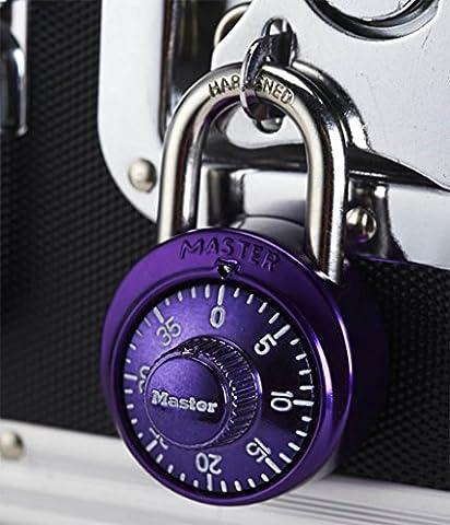 MNII Edelstahl-Kombination Vorhängeschloss mit Aluminium-Abdeckung für Safe, Raum, Tür, Gym Locker , purple - Sicherheit