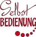 GRAZDesign 620492_30_031 Kühlschrank Aufkleber Wandtattoo Tattoo für Küche Selbstbedienung Spruch (31x30cm//031 rot)