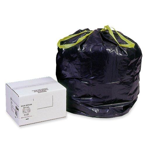 Heavy-Duty Bags, 30 gal, 1.2 mil, 30 1/2 x 34, Black, 200/Box