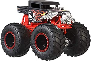 Hot Wheels - Monster Trucks Vehículo 1:64 agitador de huesos, coches de juguetes (Mattel GJY18)