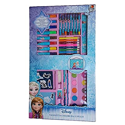 Colores Frozen Elsa Anna Disney maletín 52piezas niña-fr0184 por MC SRL