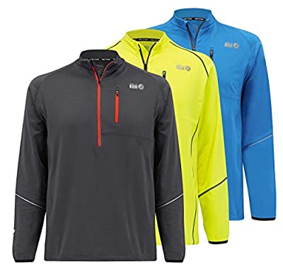 Time To Run Men's Running Long Sleeve Banff Thermo Zip Neck Top