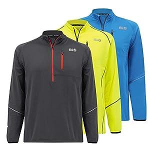 time to run Langarm-Thermoshirt Banff, Quick Dry Funktionsshirt Oberteil für Herren mit Reißverschluss am Ausschnitt
