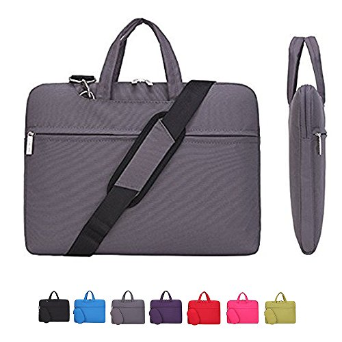 Laptop-Hülle, Laptop-Umhängetasche, cromi Simplicity Slim Aktentasche Umhängetasche COMMUTER Tasche Business Sleeve mit Griff Tasche Nylon Wasserdicht Notebook Messenger Tasche