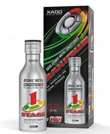 XADO Olio motore additivo con Revitalizant per la protezione contro l'usura e riparazione - condizionatore di metalli atomici - Maximum Revitalizant® 1Stage, 225m