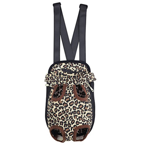 Imported Nylon Pet Puppy Dog Cat Carrier Backpack Front Tote Carrier Bag Leopard S