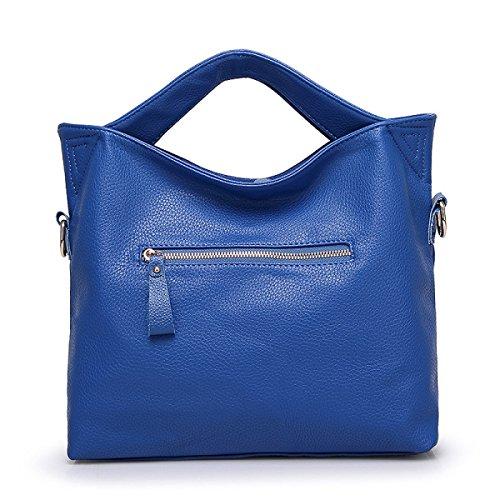 Damen Handtaschen Große Kapelle Lychee Muster Handtaschen Retro High End Eimer Tasche Schultertasche Messenger Bag A