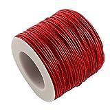 L'attrape-rêve cordon rouge en coton ciré, épaisseur 1 mm, longueur 5 mètres livraison gratuite en france métropolitaine