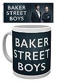 1art1 Set: Sherlock, Baker Street Boys Foto-Tasse Kaffeetasse (9x8 cm) Inklusive 1x Überraschungs-Sticker
