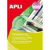 APLI 10290 - Transparencias A4 autoadhesiva (calidad foto) 10 hojas