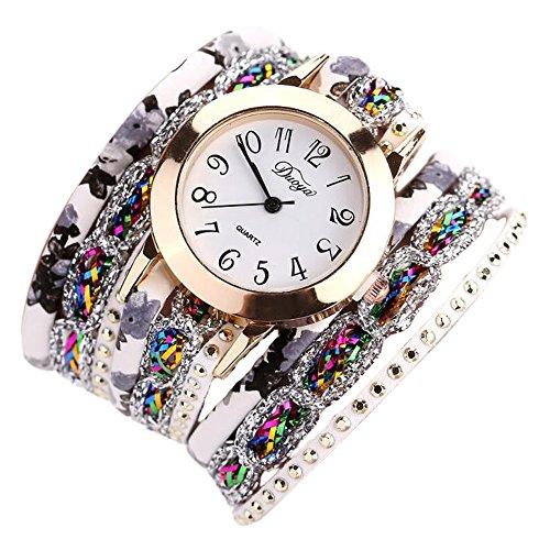 Sunnywill Duoya Frauen Mädchen Damen Schöne Mode Design Blume Beliebte Quartz Watch Luxus Edelstein Armbanduhr für Weibliche