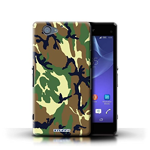 Kobalt® Imprimé Etui / Coque pour Sony Xperia A2 / Marron 4 conception / Série Armée/Camouflage Vert 4