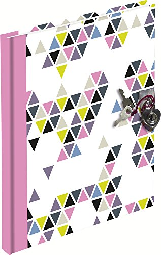 Exacompta 78446E Journal intime Prisme 17 x 16 cm 180 pages ligné Rose