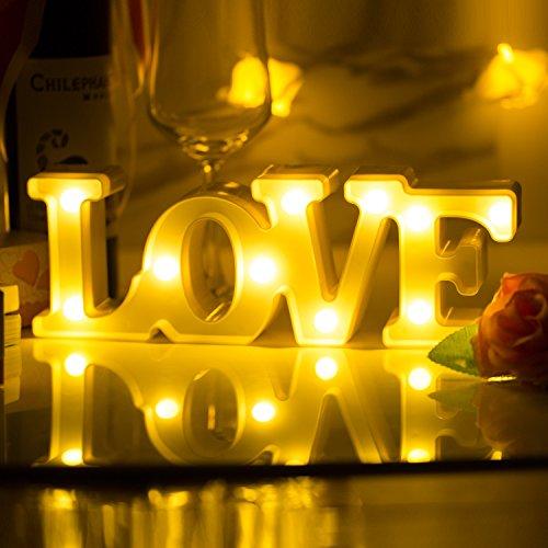 LOVE Led Nachtlicht MOOKLIN süße Nachttischlampe Batteriebetriebene Wanddeko Weihnachtsdeko Tischdeko Schlafzimmer Home Dekorationen...