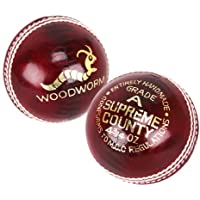 6 x Woodworm Junior Supreme County 4 ¾oz Cricket Ball
