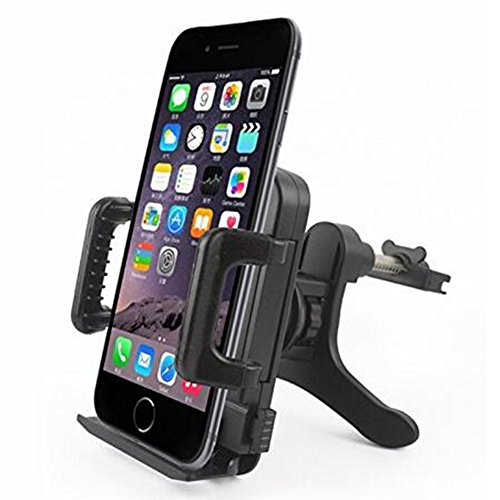 hibote Cell Phone Mounts & Ständer Durchgängig Auto Air Vent Mount Halterung / Wiege - Compatible with All Smartphones, Air Vent Auto-Halterung Halter für Apple iPhone 6/6Plus/5S/5C/5/4S/4- Samsung Galaxy S3, S4, S5,Samsung Galaxy Note 4/3/2 - LG, G2 - Motorola Moto X Droid HTC One, Nexus 5 Samsung Galaxy S5 Gesperrt Un
