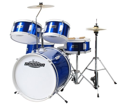 XDrum Junior Kids Drum Batteria per Bambini, Blu