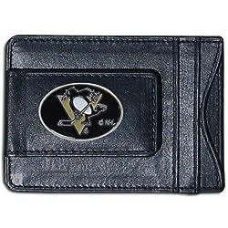 NHL Pittsburgh Penguins Genuine Leather Cash and Cardholder