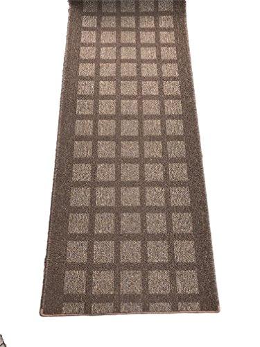 Passatoia corridoio beige crema antiscivolo A METRAGGIO cucina quadri quadrati scacchi geometrico DESIGN e A (Corsia Crema)