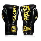 Fairtex Boxhandschuhe X Glory - Schwarz - Boxhandschuhe für Kickboxen Sparring Muay Thai