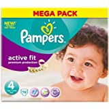 Pampers Active Fit Taille 4 (7–18 kg) Mega Box Maxi x 76 PER Pack