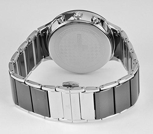 Jacques Lemans Herren Analog Quarz Uhr mit Edelstahl Armband 1-1854A