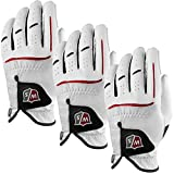 Wilson Staff 2014 Mens Grip Plus Golf Glove – LH – White – 3 Pack – M