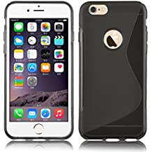 JAMMYLIZARD | Funda De Silicona Gel S-Line Para iPhone 6 Plus / 6s Plus 5.5 Pulgadas Back Cover, NEGRO
