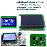 SODIAL 12864 128x64 punti grafici colore blu retroilluminato Display LCD Modulo per Arduino