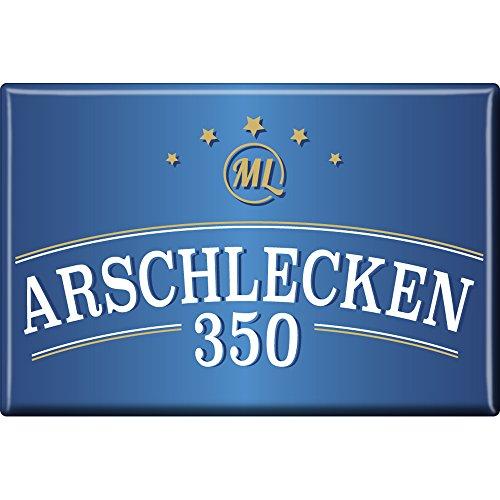 Preisvergleich Produktbild Arschlecken 350 Kühlschrank-Magnet von Sepp Bumsinger, royalblau, ca. 75 x 50 mm