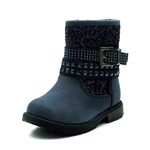 SB110 Studio BIMBI Girls Mid Calf Baby Boots w/zip in Blue Taglia 23
