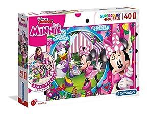 Clementoni 25462 Clementoni-25462 - Puzzle de Suelo (40 Piezas), diseño de Minnie