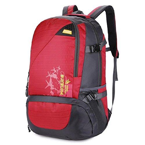 LF&F Backpack 40L GroßE KapazitäT Wasserdichtes Nylon Outdoor-Sport-UmhäNgetasche Reise-Bergsteigen Rucksack Aufbewahrungsbeutel Mehrzweck-Camping Freizeit Reitkoffer GepäCk Tasche G