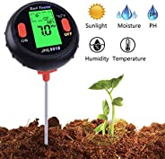 5 in 1 Soil pH Meter Tester Electronic Soil Thermometer Light Moisture & Humidity M