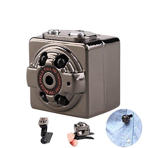 Locisne HD 1080P 12MP 30fps 2*2*2cm Ultra-Mini DVR coche Soporte SQ8 cámara oculta espía de voz portátil grabadora de vídeo con visión nocturna por infrarrojos, USB 2.0 CMOS video cámara de la leva de movimiento inalámbrico Fotos de la cámara mini DV DC detección de movimiento