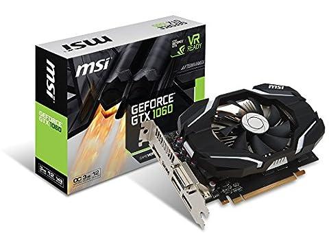 MSI GTX 1060 3G OCV1 Carte graphique Nvidia GeForce GTX1060 ATX 3 Go 8008 MHz PCI Express