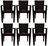 #8: PRIMA Big Boss Plastic Stacking Chairs (Brown_Set Of 6)