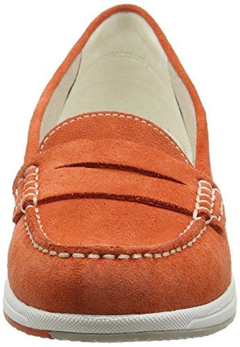 Geox D Avery C, Mocassins Femme Orange (Dk Orangec7012)