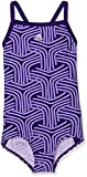 adidas Mädchen Springbreak Allover Printed Badeanzug, Chalk Purple/Real Purple, 152