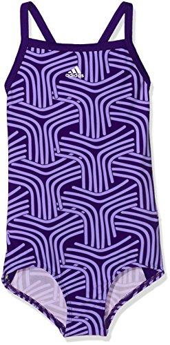 adidas Mädchen Springbreak Allover Printed Badeanzug, Chalk Purple/Real Purple, 128 Preisvergleich