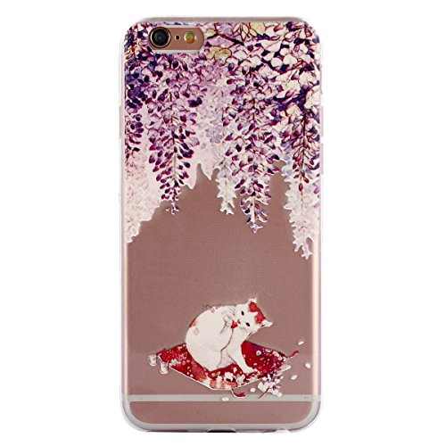 iPhone 6S Hülle,iPhone 6 Hülle,iPhone 6/6S Silikon Hülle [Kratzfeste, Scratch-Resistant],SainCat TPU Case Schutzhülle Silikon Crystal Kirstall Clear Hülle Transparent Handyhülle,Muster Weichem Ultra S Katze