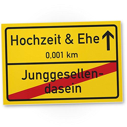 Ehe Ortsschild (30 x 20 cm), Lustiges Geschenk Hochzeit/Junggesellenabschied, Witziges Hochzeitsgeschenk Besten Freund - Kumpel ()