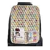 VORCOOL Rückenlehnenschutz Rücksitztasche Auto wasserdicht Utensilientasche Organizer für Kinder (Ente)