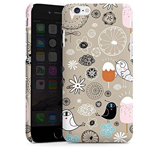 Apple iPhone X Silikon Hülle Case Schutzhülle Birds love Icecream Eis Vögel Premium Case matt